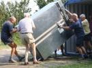 6 September: De koelkast blijft bewaard en gaat overwinteren in de zeecontainer