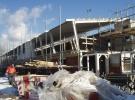 Begin Maart: De dakplaten zijn geplaatst