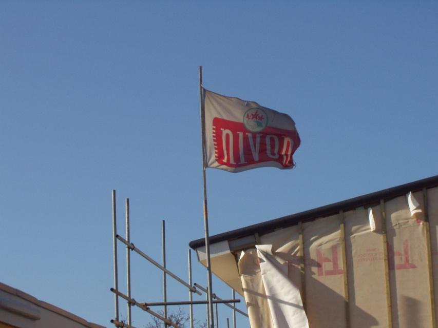 16 Maart: De vlag uit ! Het 'hoogste punt' is bereikt !