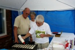 De eerste poffertjes ..... Totaal werden er ruim 250 porties gebakken